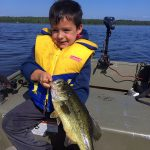 Nathan McPhee of Guelph sent in this photo of his son Griffen McPhee, 5, with a largemouth bass they caught on Manitoulin Island on Lake Huron.