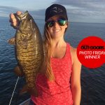 Congratulations to our winner for July 26, 2019, Kayla Culp of Ridgeway! She caught this Lake Erie smallmouth bass near the Niagara River while drop-shotting with her fiancé, Matt Sirianni.