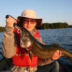 Hannah Munderich of Welland was thrilled to catch her first-ever lake trout while jigging spoons off a canoe while vacationing in the Lake of Bays area.