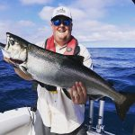 Ryan Sharpe of London won big salmon of the day in the Chantry Chinook Classic on Lake Huron, fishing out of Kincardine.