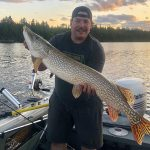 Andrew Grant of Englehart caught this monster northern pike while trolling with a silver spoon on Larder Lake.