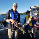 Adam Lass of Marathon sent in this photo of Owen, Tyler and Kiersten with lake trout caught on Lake Superior.