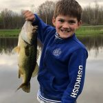 "Kevin Walker of Johnstown sent in this photo of his son Wyatt's first largemouth. ""He was crazy excited and is now hooked on fishing for life!"" he wrote."