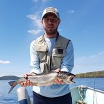 Tyler Watson of Galt caught this beautiful 24-inch Lake Trout on a Rapala trolling in Lake Kipawa, northeast of Temiscaming in Quebec.