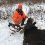 "Angelo D'Onofrio of Niagara Falls harvested this bull moose on opening day in WMU 15B. ""One of the most amazing experiences of my life,"" he wrote."