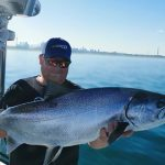 Chris Ruhl of Alma sent in this photo of his Lake Ontario king salmon catch.