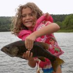 Cory Caissie of Elliot Lake sent in this photo of her daughter Haily with a big bass.