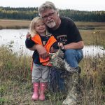 David Loring submitted this photo of himself and granddaughter Olivia after she took in her first bird hunt at Manitouwadge.