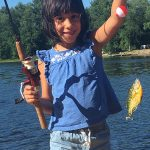 Jaime Lopez of Mississauga sent in this photo of her youngest catching her first fish.