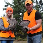 Matt Clement and his wife Chrissy of Brockville harvested these ruffed grouse while honeymooning in Chapleau.
