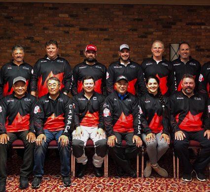 Team Canada posing for team photo
