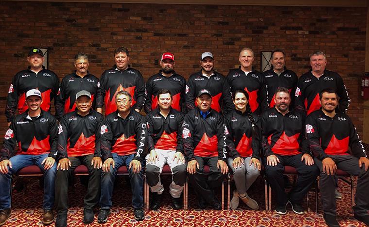 Team Canada posing for photo