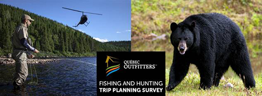 Fishing and hunting trip planning survey graphic