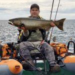 Adrian Uturas of Kitchener caught this 22-pound Chinook salmon using a Rapala Husky Jerk on Lake Ontario near Oshawa.