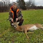 Bruce Cole of Picton harvested this buck during the bows-only season in Prince Edward County in a field on a friend's farm while hunting with his dad, Charlie.