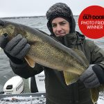 Congratulations to our winner for November 15, 2019, Cameron Laird of Milton! He caught this personal-best, eight-pound walleye in the Bay of Quinte on Remembrance Day.