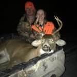 Apprentice hunter Ella JP Smith of Ethel harvested her first deer on the last day of the 2018 rifle hunt in Huron County with her father Kurtis.