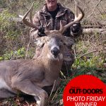Congratulations to our winner for November 8, 2019, Jason Russell of Port Stanley! He was all smiles after harvesting his first buck.