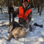 Mason England of Plevna with his second buck in as many years in Maberly.