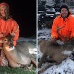 Jessica Ladly of Collingwood harvested an eight-point buck, her first deer, the day before her brother Mark Oostdam harvested a nine-point buck.