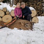Mike and Claira Klemme of Dunnville with his first deer using a traditional bow.