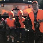 Remi Levesque of Smooth Rock Falls submitted this photo with himself and, from left, Remi Jr. and Agate Levesque after a successful grouse hunt.