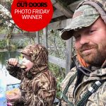 Congratulations to our winner for November 29, 2019, Shaunna Frawley of Coldwater! She submitted this photo of Grayson Cole, 7, having breakfast in the duck blind with his dad, James.