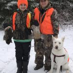 Kyla Danielle Maltais of Porcupine harvested these ruffed grouse with the help of her son Karsen.