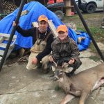 Apprentice hunter Austin Culp harvested his first deer with his dad, Robert, of Cayuga.