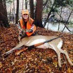 Apprentice hunter Lorren Poland of Blyth harvested this doe at 30 yards.