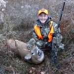 Quinn Baxter, 13, of Hagersville, used a muzzleloader to take down this deer.