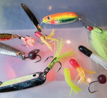 neon tackle on a tackle box