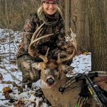 Lynnly Hoskins of Blenheim harvested her first buck in November since getter her license in 2017.
