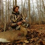 Matt Chestnut of London harvested this 10-point buck (chasing a doe at the time), with his crossbow last season.
