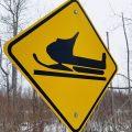 a snowmobile trail sign