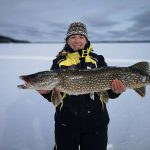 Amy Newport of Red Lake caught this northern pike on Gullrock Lake, took a quick photo, and returned it to the water.