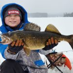 Evan Jones, 11, of Haliburton caught this 9lb, 11.25oz walleye, narrowly missing his dad's own personal best by less than an ounce.