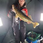 Kurtis Verch of Espanola harvested this 29-inch walleye while ice fishing on Lake Heron.