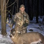 Ryan Quinlan of Bowmanville harvested his first buck back in December with only seven minutes left in the season.