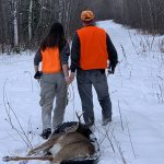 Kathryn Fischer of Fort Frances harvested her first deer at the family hunt camp with her dad, Paul, who had the pleasure of sharing her excitement.