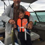 Mike Shirton of Dunnville with daughter Lila, and Grandpa Richard, caught a 9-lb walleye on Lake Erie in the summertime.