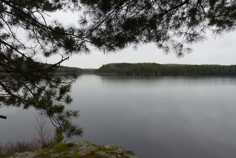 a lake scape from a vantage point