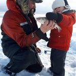 Tyson Kan of Nolalu had a great of perch fishing with his son, Taimen, in Black Bay.