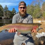 Photo Friday winner Andre Couture of Parry Sound caught this beauty rainbow trout on a southern Georgian Bay tributary using a bucktail spinner. It was his first day fishing open water this year.