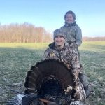 Andrew Garland of Goderich brought his daughter Arabelle on her first turkey hunt on opening day.