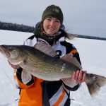 Carissa Mansfield of Sioux Lookout was on Denorwic Lake, seeking crappies. At the end of the day, she was reeling up her line, saw a big red mark on her flasher, lowered it back down, and hooked herself a walleye.