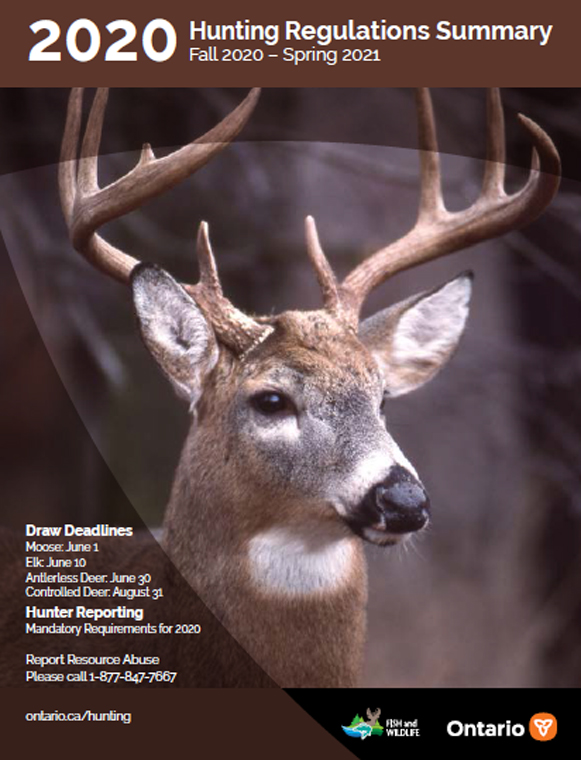 cover of 2020-21 hunting regulations