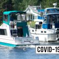 Boaters make their way east along the Trent Severn Waterway just west of Canal Lake.