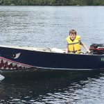Marc Blake of Mississauga is proud of his son, who passed his boating exam and got a new paint job!
