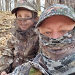 Phil Curtis of St. Catharines and daughter, Madison, camped out, socially distanced, and harvested a turkey together.